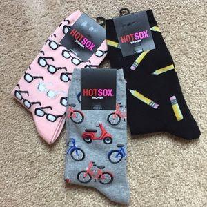 NWT Set of three fun women's socks 🧦